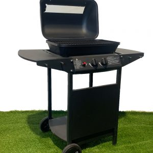 Barbecue Grill 2 Pits Gas